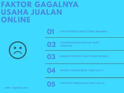 faktor gagalnya usaha jualan online