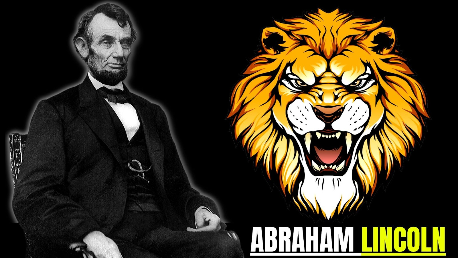 Abraham Lincoln Wallpaper with Lion