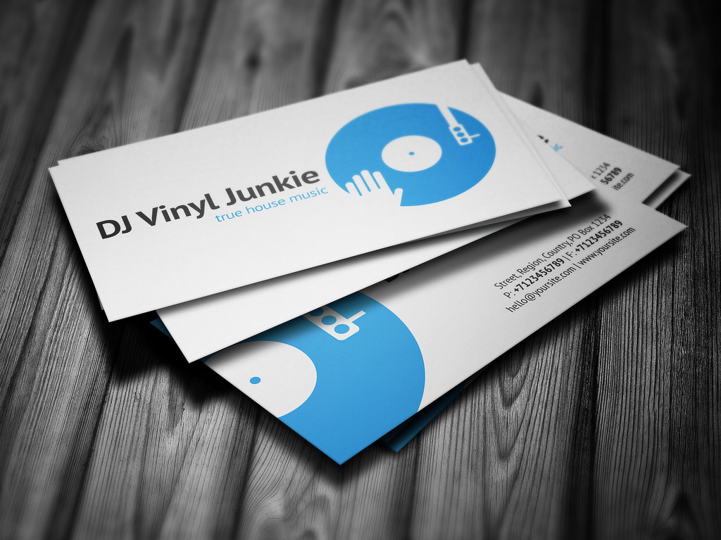 Dj business cards business card tips dj business card template psd free download creative dj business cards free printable dj reheart Image collections