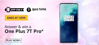 Amazon Quiz Answers Today 12 April