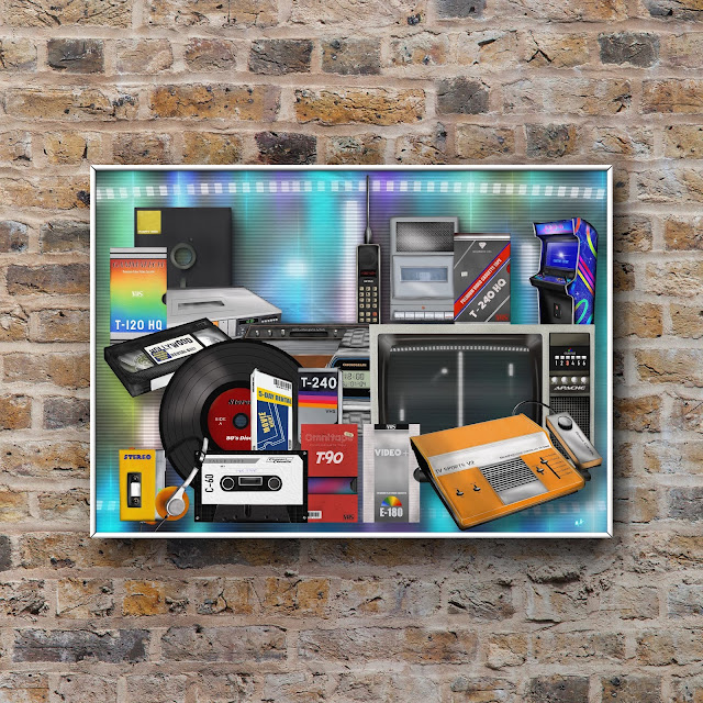retro and vintage technology artwork by Mark Taylor
