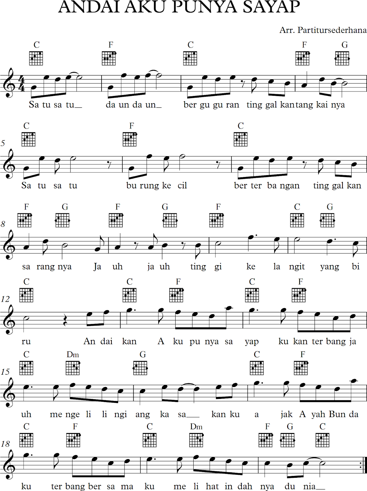 Chord Seandainya Aku Punya Sayap : chord, seandainya, punya, sayap, Andai, Punya, Sayap, Dengan