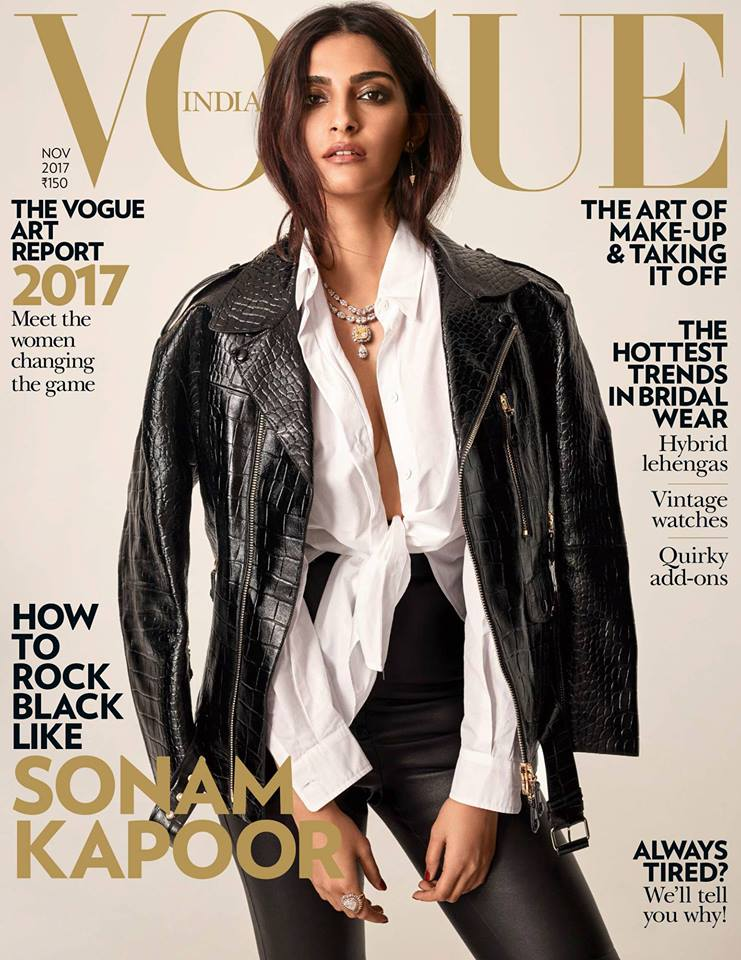 Sonam Kapoor on the November 2017 Cover of Vogue India ...