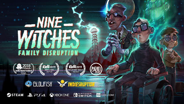 Nine Witches:Family Disruption review. The dark pixelated arts of adventure gaming.