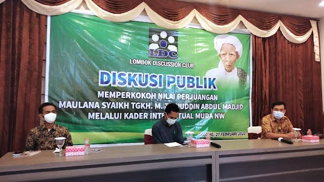 Diskusi Publik LDC, Pemuda NW rajut kebersamaan demi titah Maulana