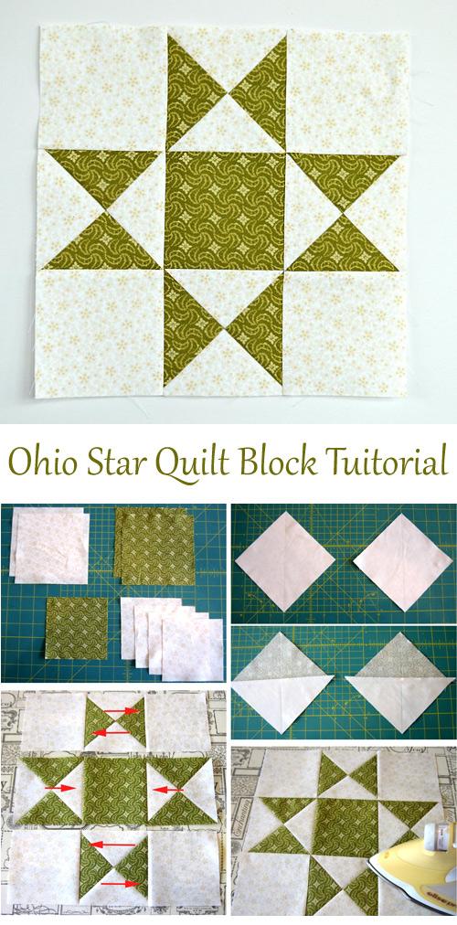 Ohio Star Quilt Block Tuitorial