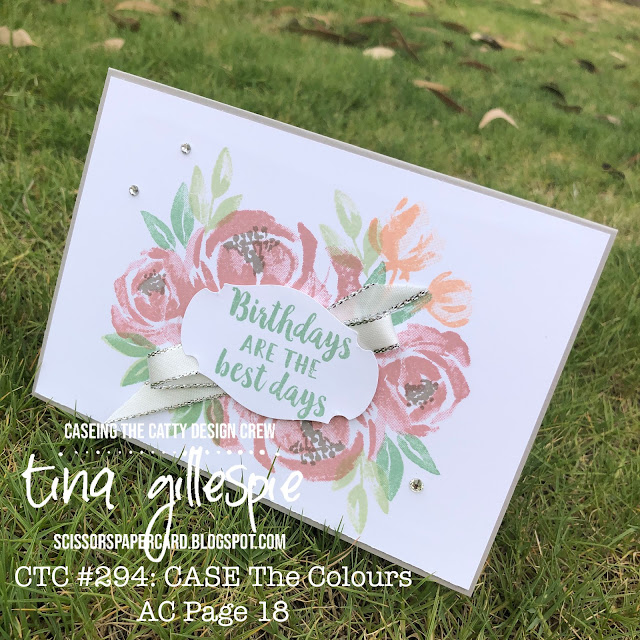 scissorspapercard, Stampin' Up!, CASEing The Catty, Beautiful Friendship, Story Label Punch