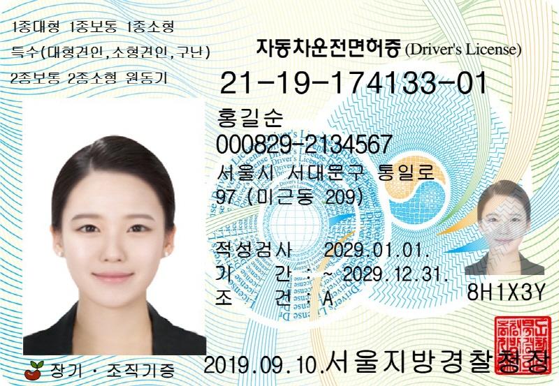 운전면허증 뒷면 영문 면허정보 표기 '영문 운전면허증' 발급