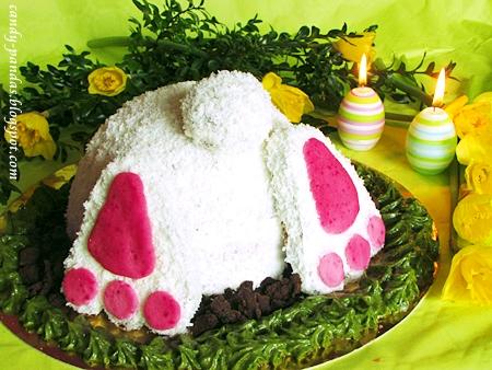 """Bezglutenowy tort """"pupa zająca"""""""