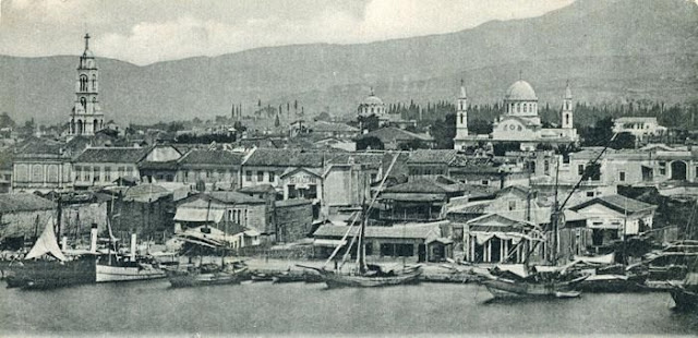 A view of Smyrna (Izmir, Turkey)  View of Saint Fotini on the left C. 1900