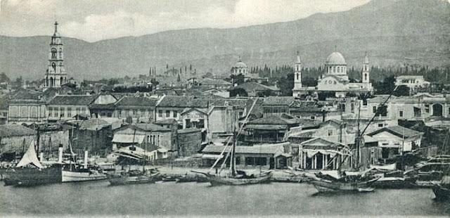 A view of Smyrna (Izmir, Turkey)  View of Saint Fotini on the left C. 1900