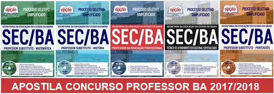 Concurso Professor SECBA 2017: Terá 3.460 vagas