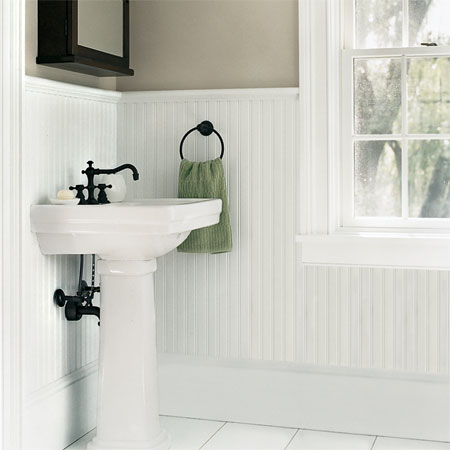 wainscoting ideas for bathrooms addicted to crafts boazeria w łazience 22609