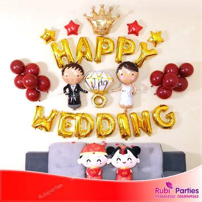 Set bóng trang trí phòng cưới HPWD07