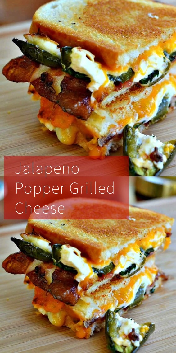 Jalapeno Popper Grilled Cheese #JalapenoPpper #Grilled #Cheese #Breakfast