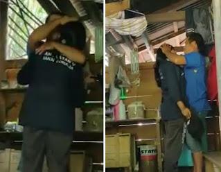 """Berpisah selama 18 tahun """"Santi Mongan"""" Mahasiswi IAKN Toraja bertemu ayah kandungnya di lokasi KKN tepatnya di Lembang Issong Kalua', Kecamatan Buntao' Kabupaten Toraja Utara. Sabtu (10/7/2021)    Kisah haru pertamuan anak dan ayah di lokasi KKN berawal saat Santi dan rekannya melaksanakan pendataan di rumah masyarakat."""