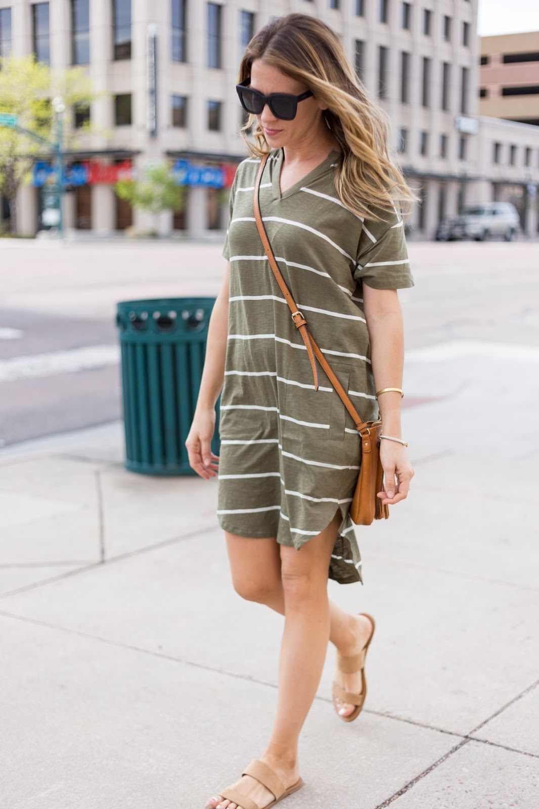 Shirt Dress and Crossbody