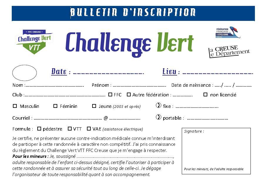 Calendrier Vae 2020.Comite Departemental Ffc De La Creuse Challenge Vert Le