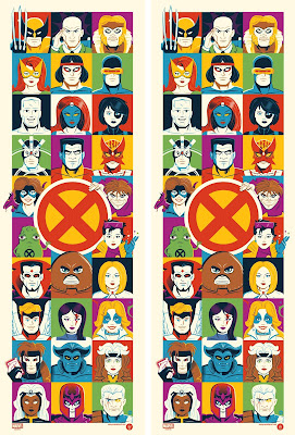 X-Men Screen Print by Dave Perillo x Grey Matter Art x Marvel
