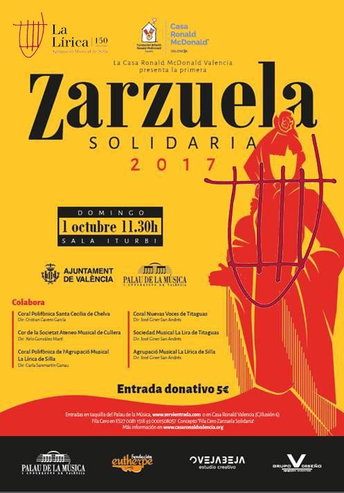Zarzuela solidaria palau de la m sica agrupaci musical la l rica de silla - Casa ronald mcdonald valencia ...