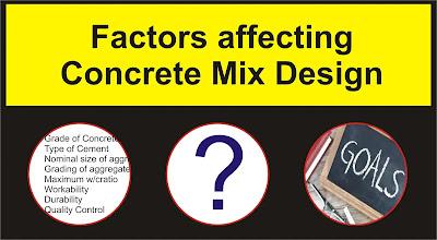 Factors affecting Concrete Mix Design | Civil Experiences