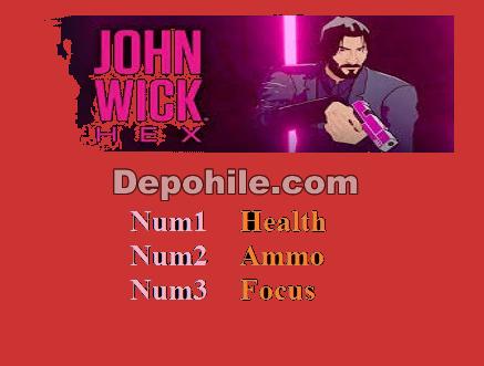 John Wick Hex (PC) Oyunu Can - Mermi +3 Trainer Hilesi İndir