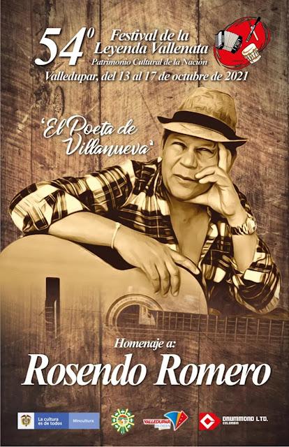 Abiertas las inscripciones para el 54° Festival de la Leyenda Vallenata en homenaje a Rosendo Romero 'El Poeta de Villanueva'