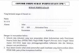 Download Contoh Format Surat Pernyataan CPD 2021