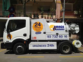 Camión cuba para desatascos en Badalona
