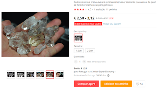 fake herkimer diamond from china