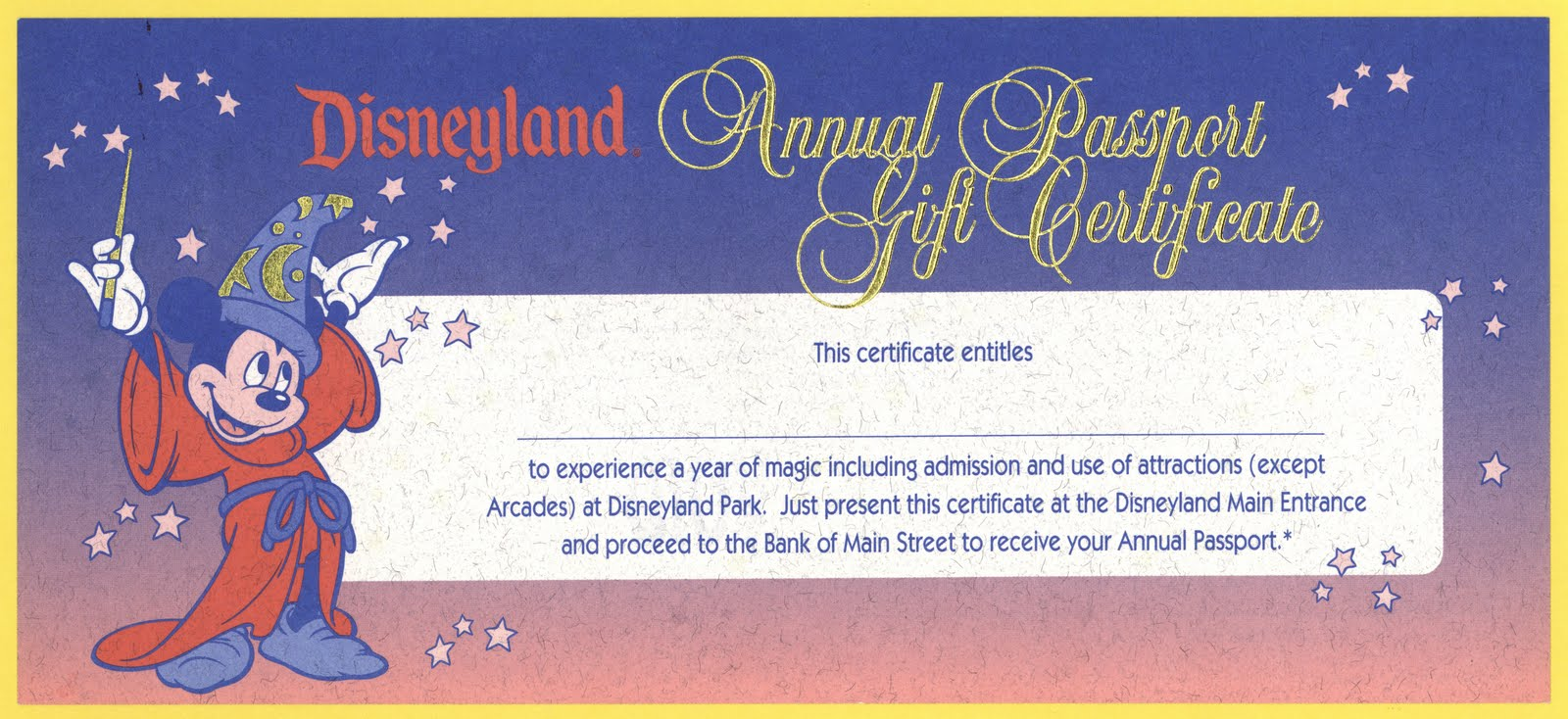 vintage disneyland tickets disneyland annual passport gift