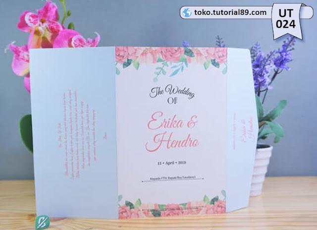 Undangan pernikahan UT024 - Semi Amplop +free kartu ucapan terima kasih