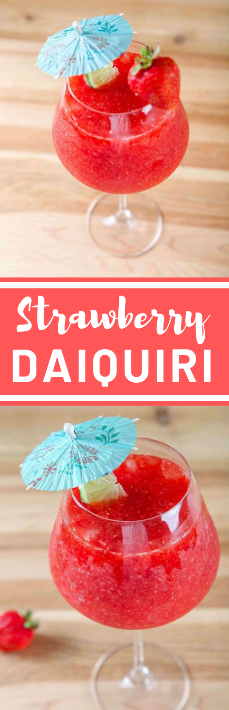 STRAWBERRY DAIQUIRI #drink #strawberry #cocktail #healthy #recipes