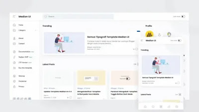 Median UI Blogger Template
