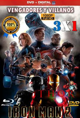 Vengadores Y Villanos 3X1 DVD HD LATINO