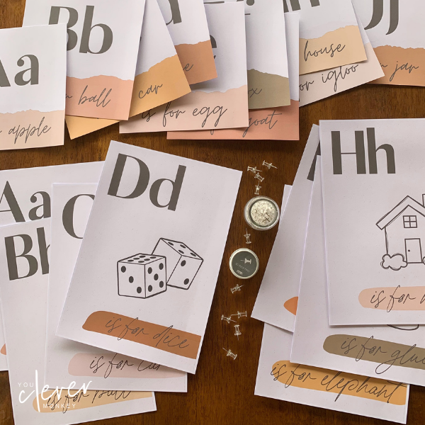 BOHO SUMMER Classroom Alphabet Posters - Simple, stylish boho inspired classroom decor with a retro 70's summer feel is just what you need this back to school to create an inviting classroom   you clever monkey