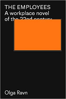 All black book cover with white writing and an orange square obscuring the title
