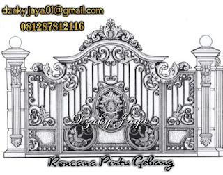 Contoh desain pintu pagar klasik cocok untuk pagar rumah klasik