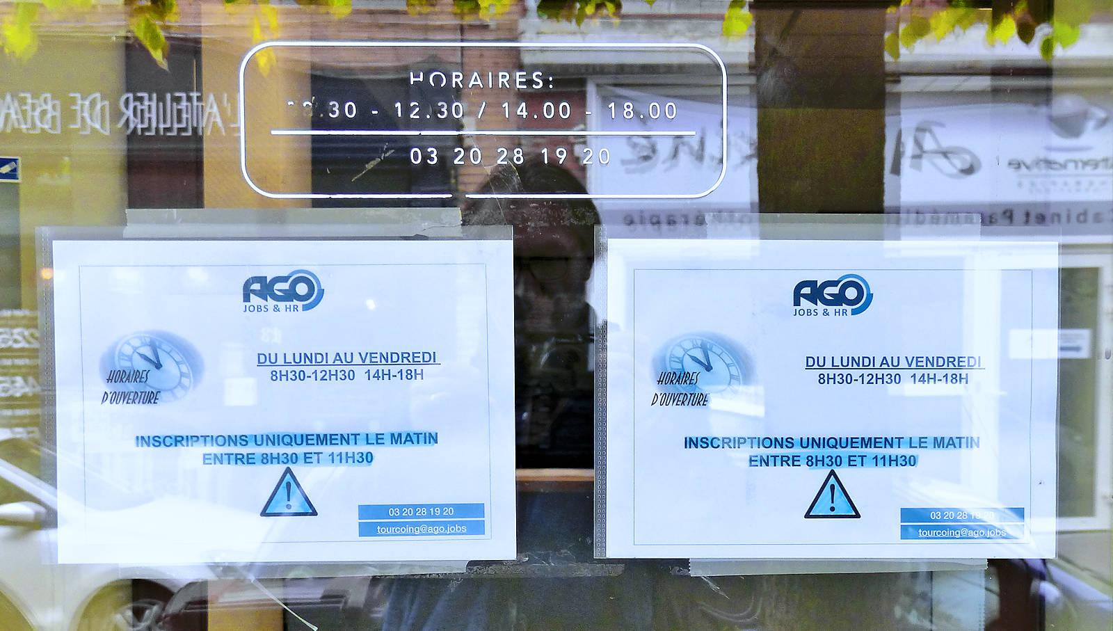 Horaires d'ouverture et d'inscription - AGO Intérim, Tourcoing Centre