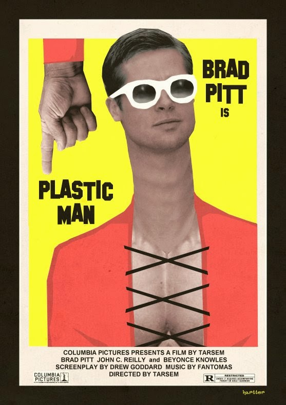 Brad Pitt Is Plastic Man