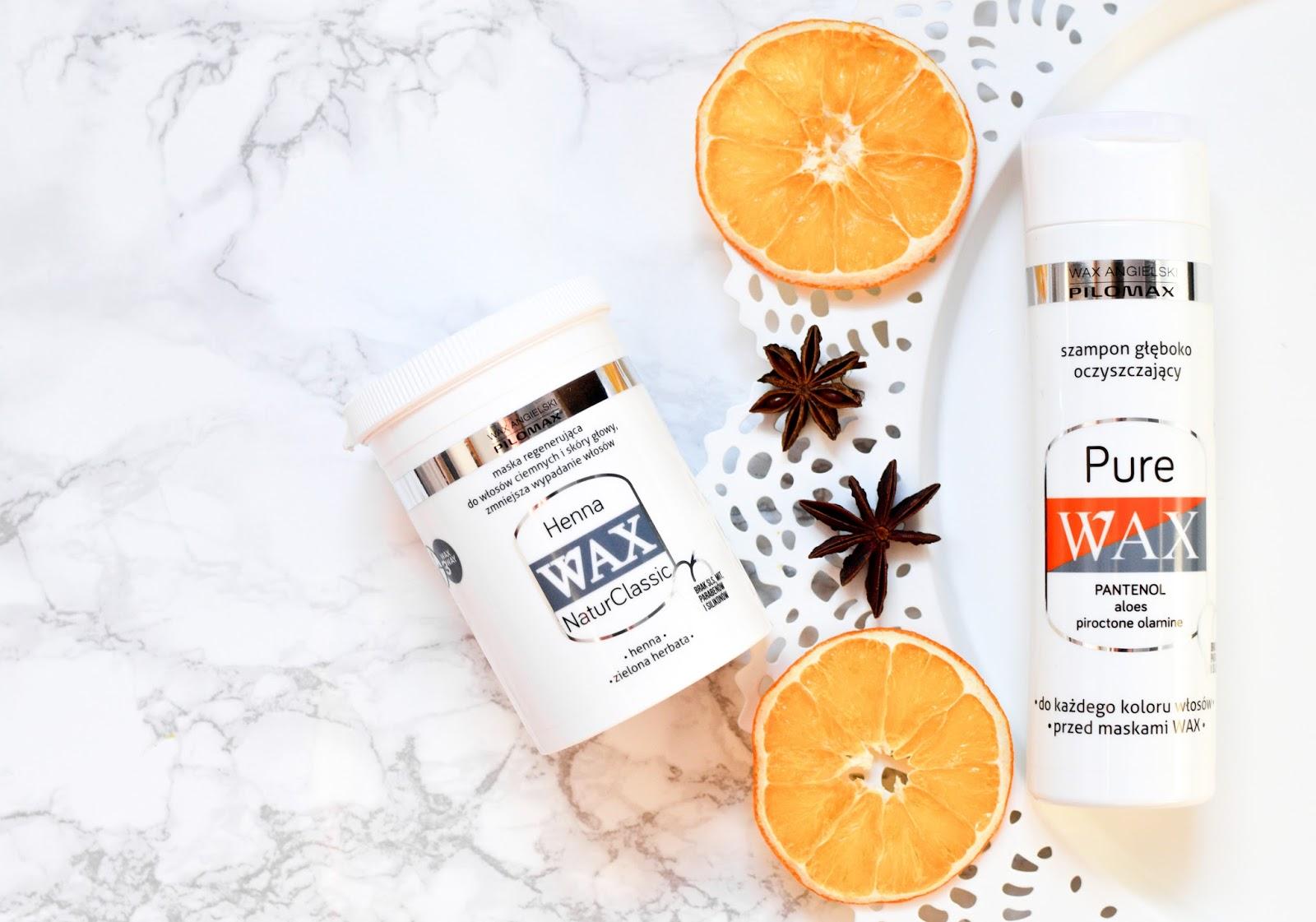 WAX ANGIELSKI PILOMAX - szampon PURE WAX & maska HENNA WAX NATURCLASSIC