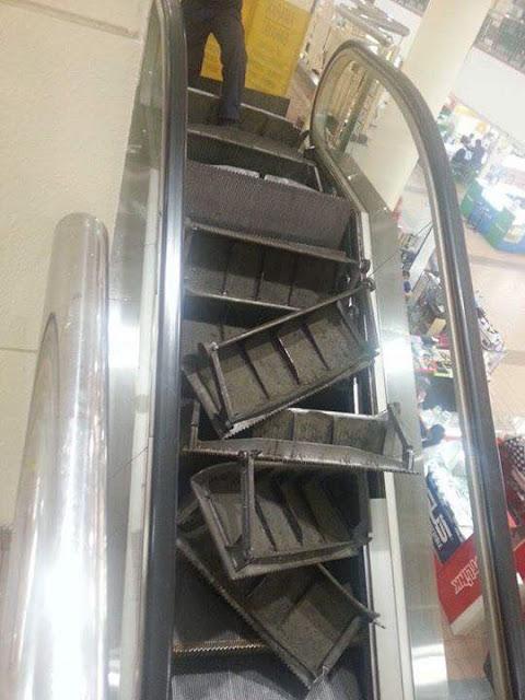 Eskalator Shopping Mall Pandan Capital Ampang Meletop