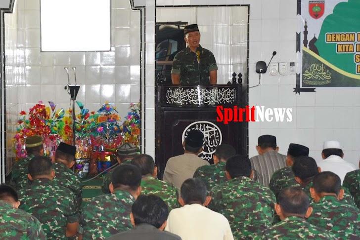 Lingkup Korem 141/Tp, Peringati Maulid Nabi Besar Muhammad SAW 28 Rabi'ul Awal 1441- H