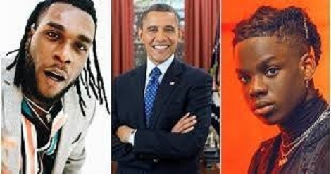 Burna Boy, Rema make Obama's list of favourite music