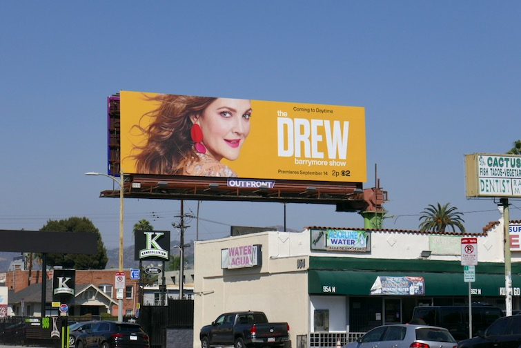 Drew Barrymore Show season 1 billboard