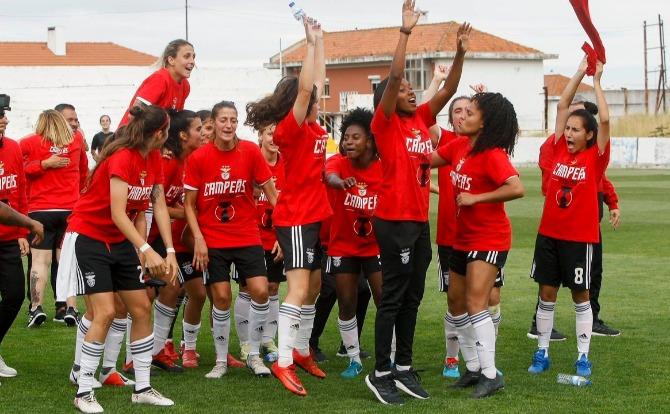 Benfica Campeão Nacional da 2ª Divisão Futebol Feminino 2018/19