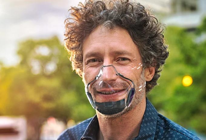LEAF la primera máscara transparente N-99 con filtro aeroespacial, 100% reutilizable y reciclable