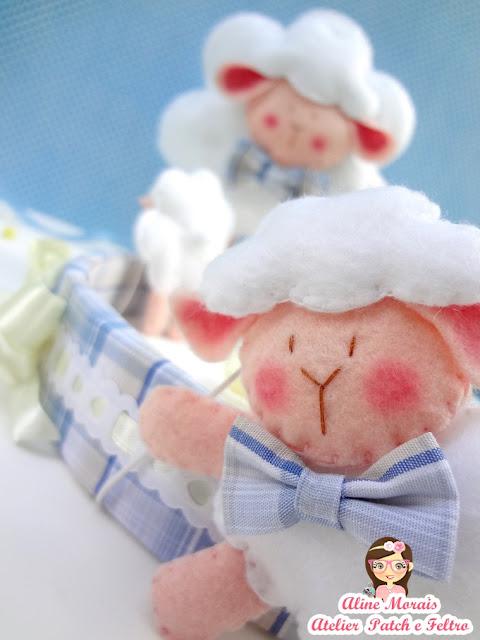 mobile de berço ovelha ovelhinha de feltro