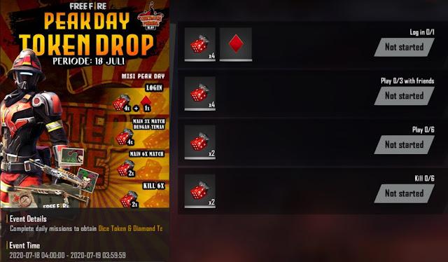 Cara Mendapatkan Token Dadu dan Diamond Trickster Free Fire