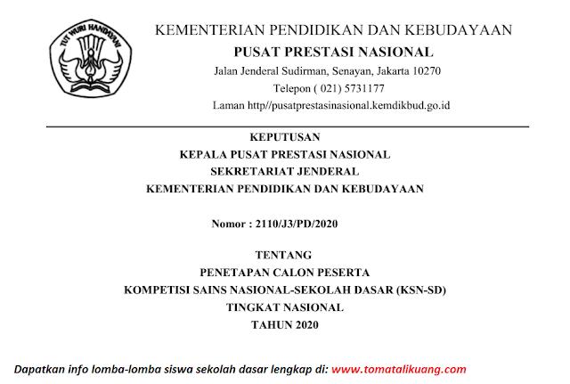 sk peserta ksn sd tingkat nasional tahun 2020 pdf tomatalikuang.com